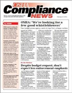 OSHA Compliance News