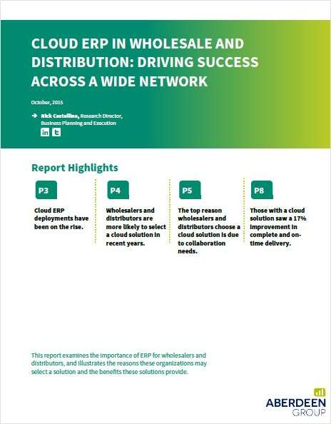 Cloud ERP in Wholesale and Distribution: Driving Success Across a Wide Network