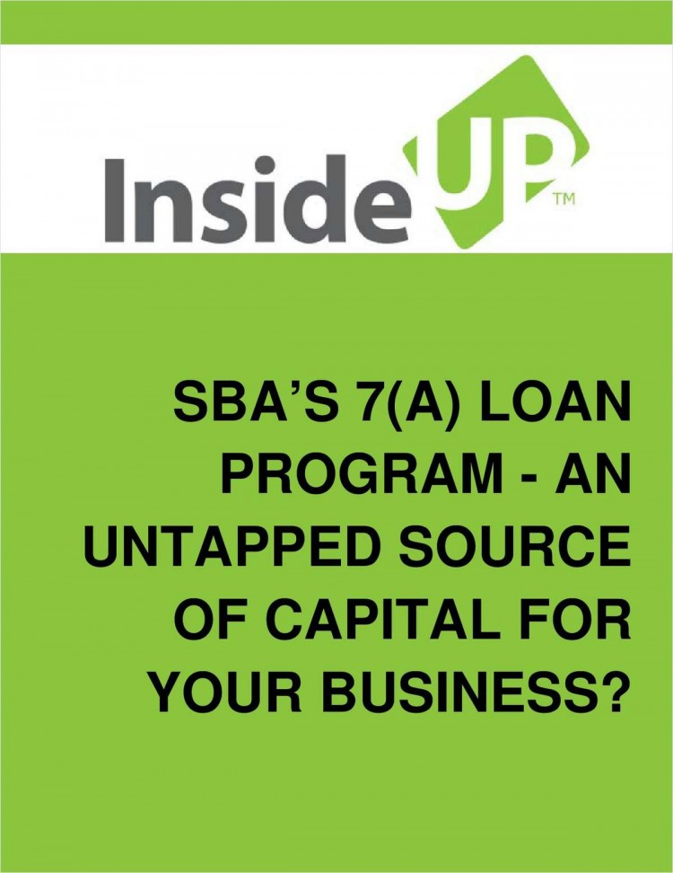 SBA's 7(a) Loan Program – For Your Start-up or Growing Business