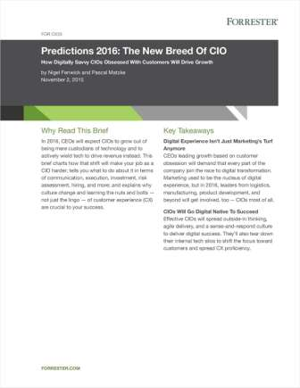 Forrester Brief: The New Breed of CIO